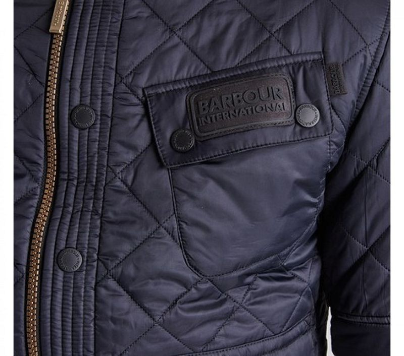 Barbour Men B.Intl Cruiser Tailored Fit Quilted Jacket Black