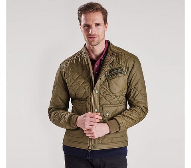Barbour Men B.Intl Cruiser Tailored Fit Quilted Jacket Olive