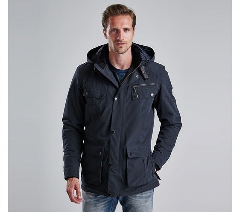 Barbour Men B.Intl Lockhill Waterproof Jacket Black