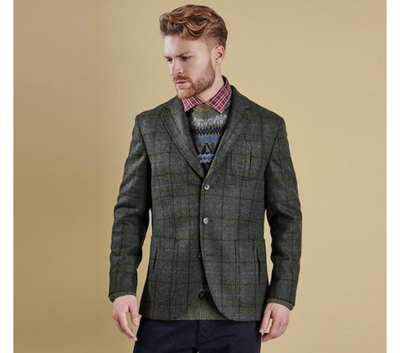 Barbour Men Alderholt Tailored Jacket Olive