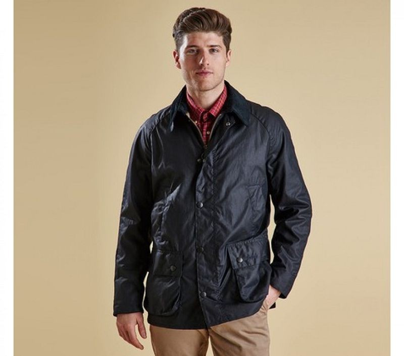 Barbour Men Ashby Waxed Jacket Navy