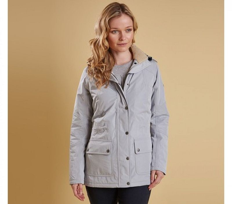 Barbour Women Aspley Jacket Silver Ice