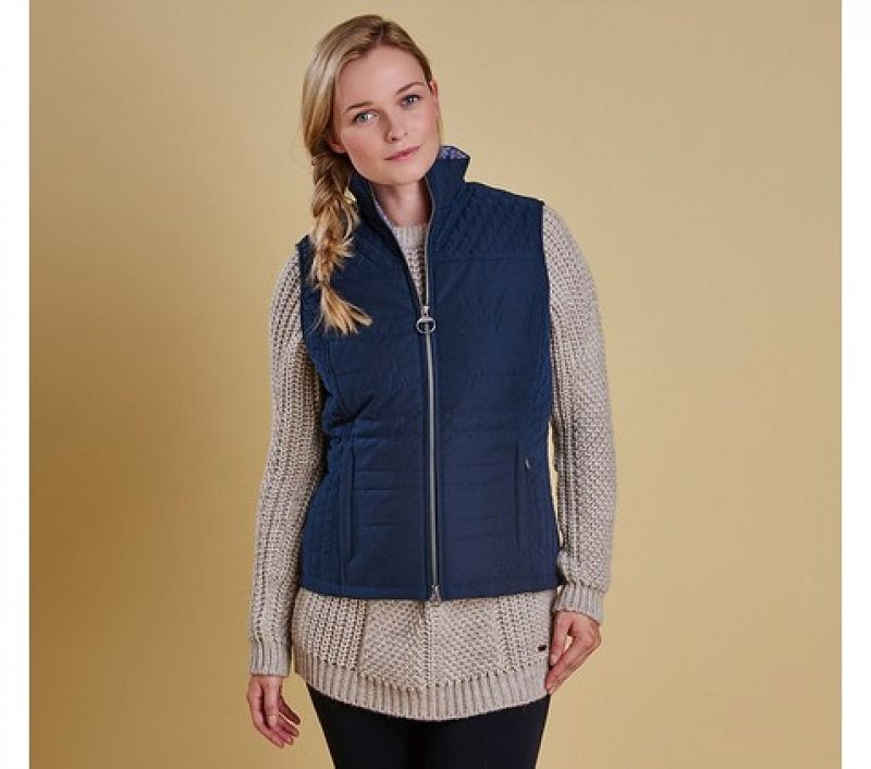 Barbour Women Badminton Gilet Navy