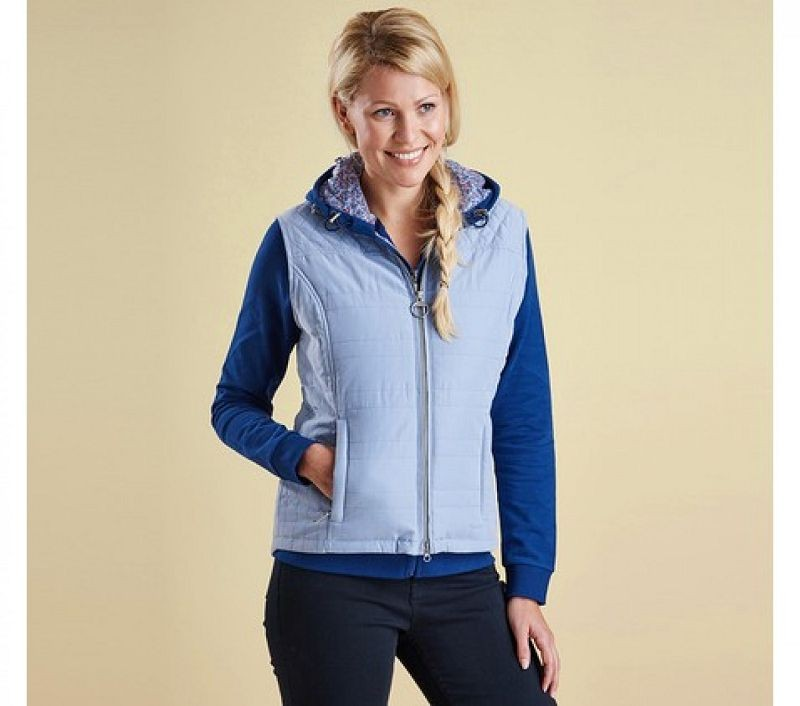 Barbour Women Badminton Gilet Pale Blue