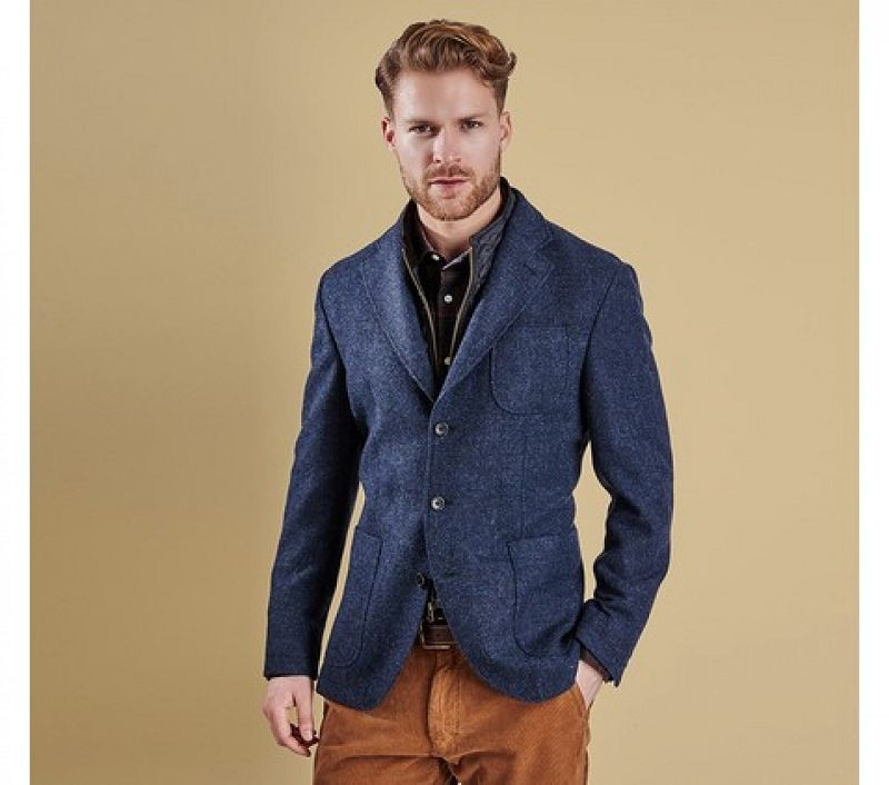 Barbour Men Ballow Tailored Jacket Navy