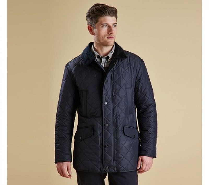 Barbour Men Bardon Quilted Jacket Navy