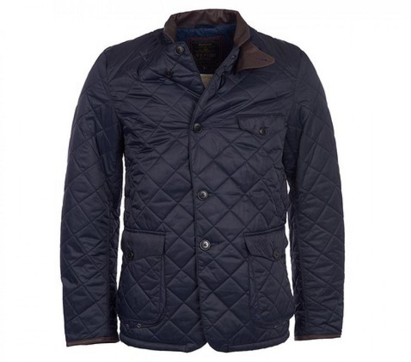 Barbour Men Beacon Sports Quilted Jacket Navy