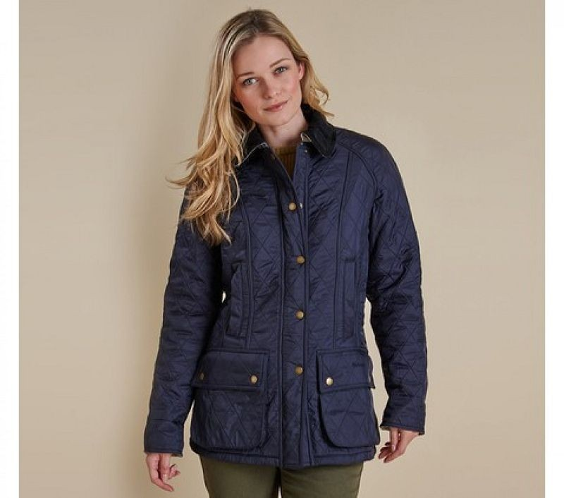 Barbour Women Beadnell Polarquilt Jacket Navy/Navy