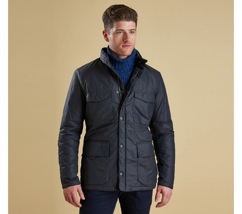 Barbour Men Bedley Quilted Jacket Navy