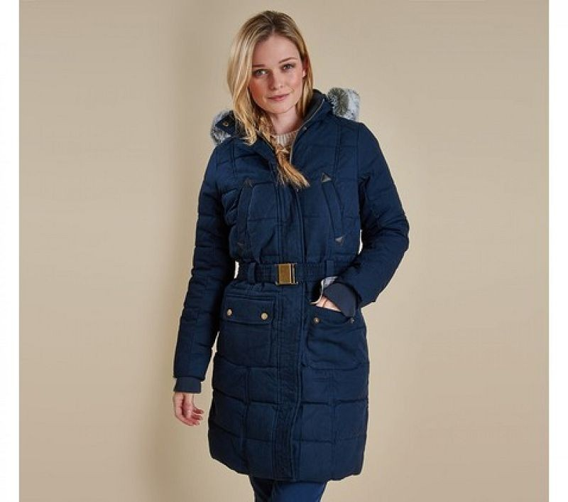 Barbour Women Belton Quilted Jacket Navy/Dress