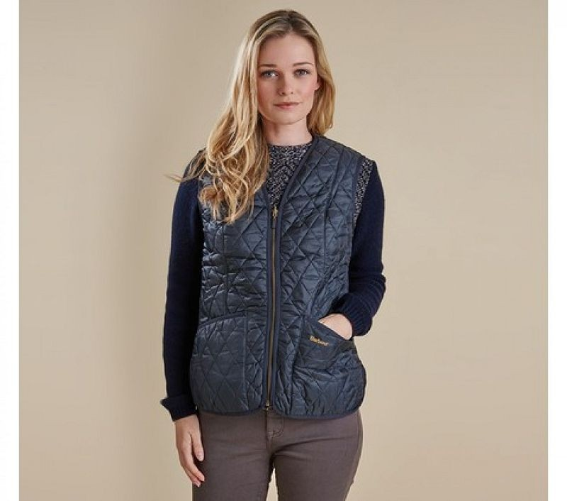 Barbour Women Betty Interactive Liner Navy