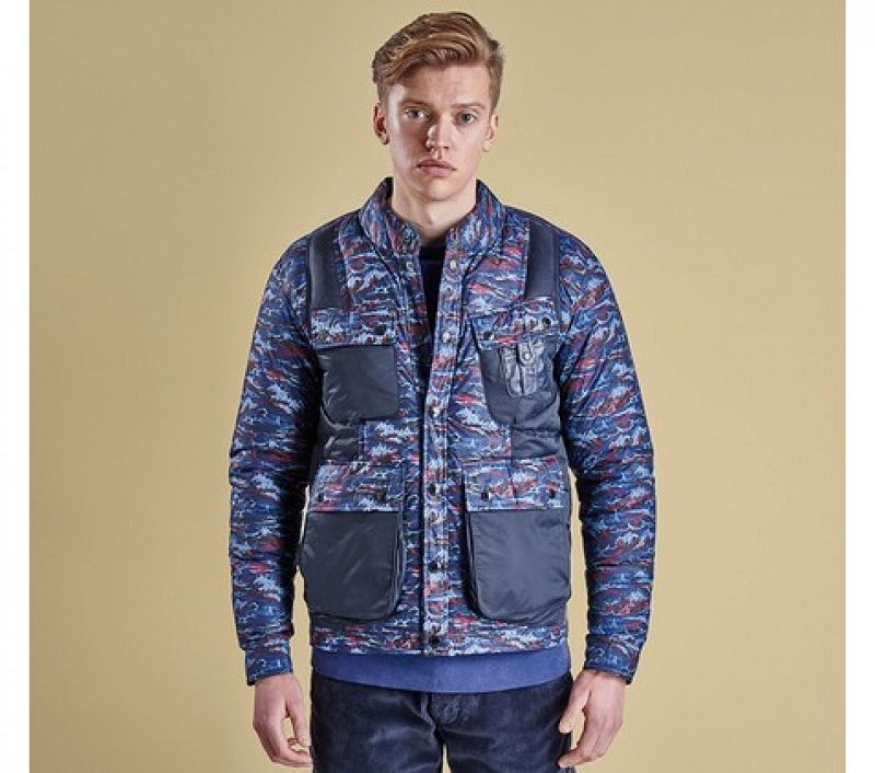 Barbour Men Blenyama Quilted Jacket Navy