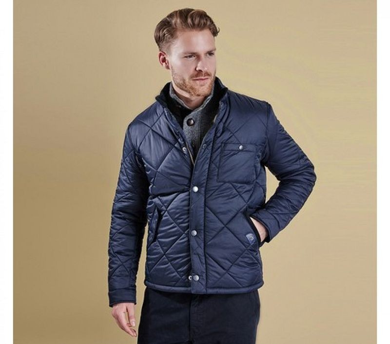 Barbour Men Blockhill Quilted Jacket Navy