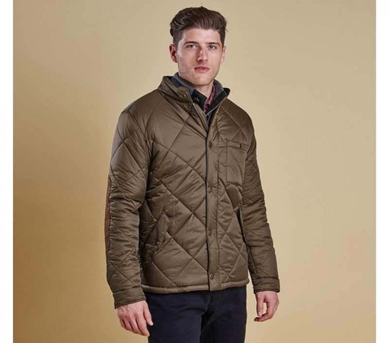 Barbour Men Blockhill Quilted Jacket Olive