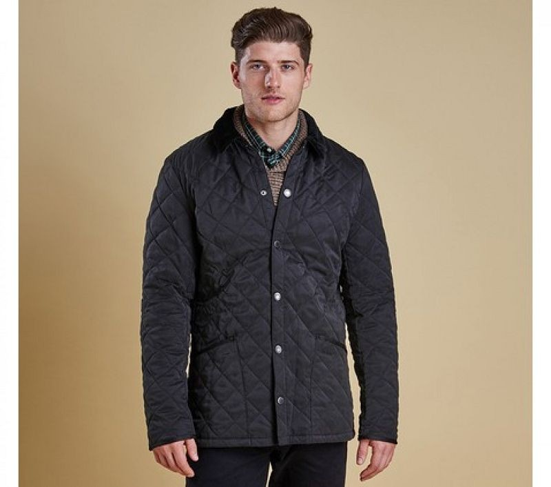 Barbour Men Bonell Quilted Jacket Black