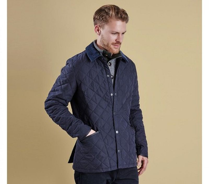 Barbour Men Bonell Quilted Jacket Navy