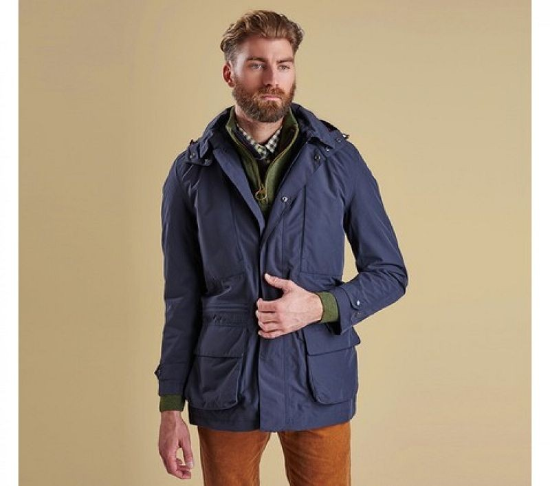 Barbour Men Bonham Jacket Navy