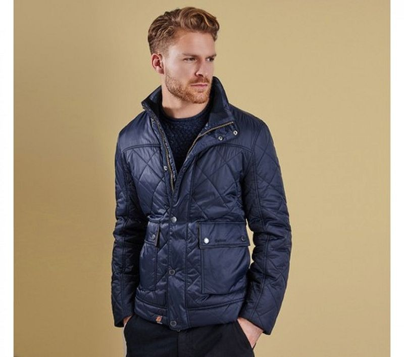 Barbour Men Bowfell Quilted Jacket Navy