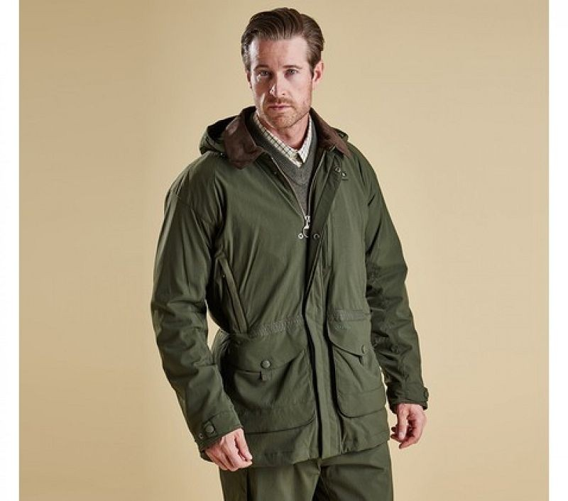 Barbour Men Bransdale Waterproof Jacket Forest Green