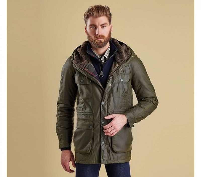 Barbour Men Brindle Wax Jacket Fern