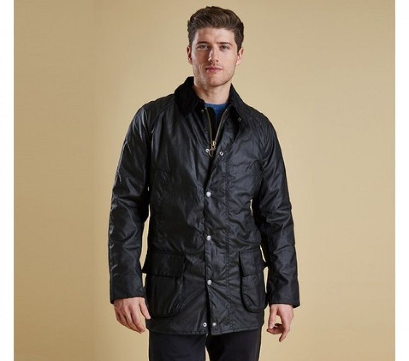 Barbour Men Bristol Waxed Jacket Black