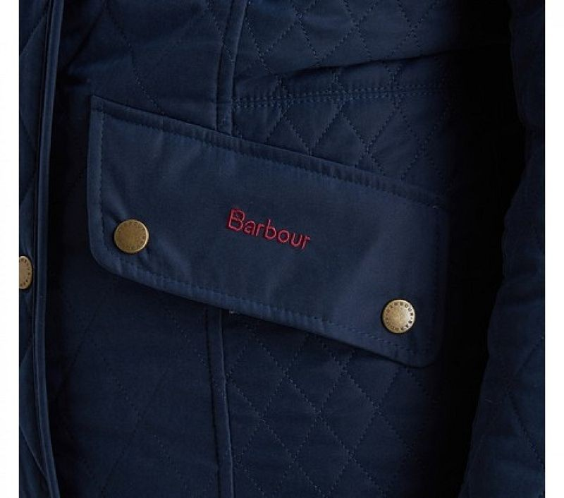 Barbour Women Brocklane Waterproof Quilted Jacket Navy