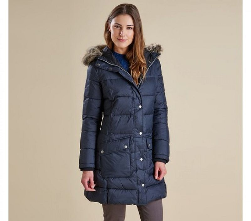 Barbour Women Buoy Quilted Jacket Black