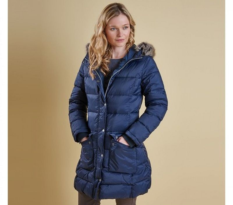 Barbour Women Buoy Quilted Jacket Navy