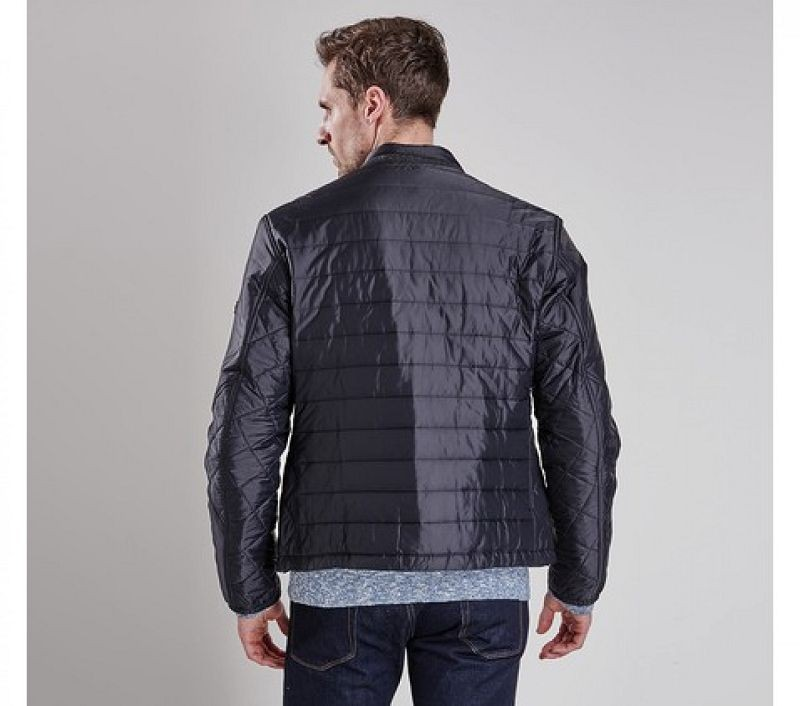 Barbour Men Caliper Tailored Fit Quilted Jacket Black