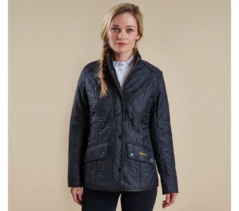 Barbour Women Cavalry Polarquilt Jacket Black