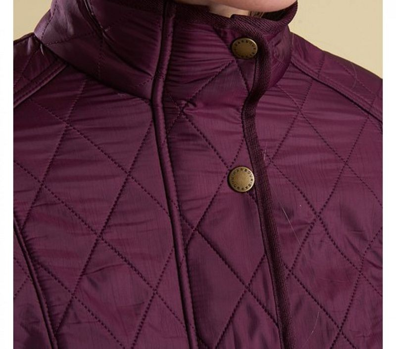 Barbour Women Cavalry Polarquilt Jacket Bordeaux