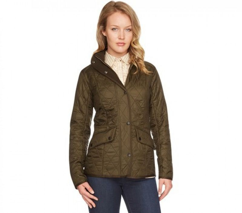 Barbour Women Cavalry Polarquilt Jacket Dk Olive/Olive