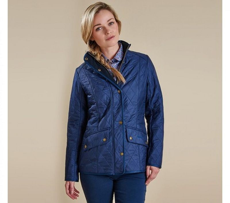 Barbour Women Cavalry Polarquilt Jacket Dress Blue