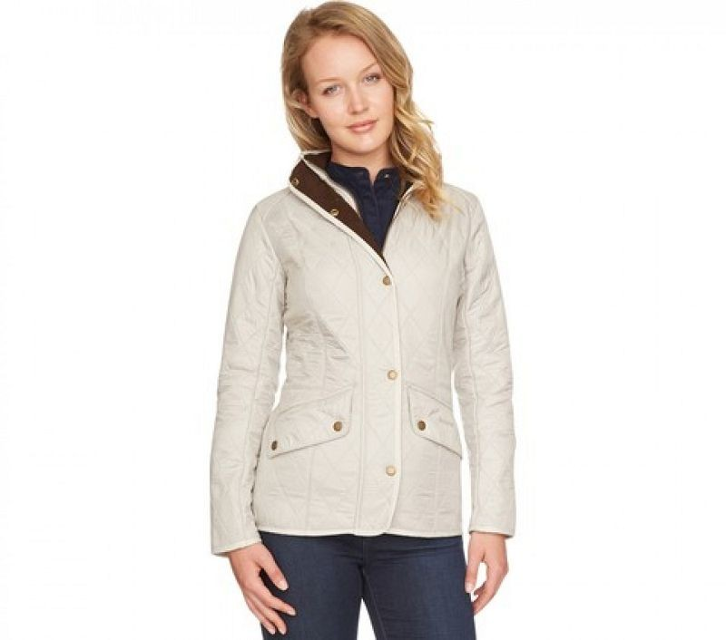 Barbour Women Cavalry Polarquilt Jacket Pearl/Rustic