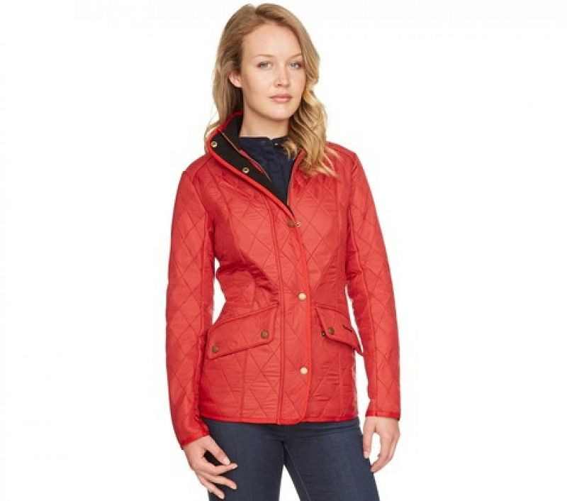 Barbour Women Cavalry Polarquilt Jacket Red