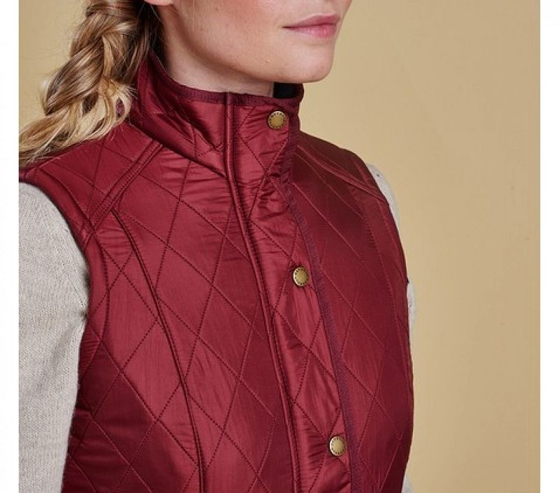 Barbour Women Cavalry Quilted Gilet Rosewood/Navy