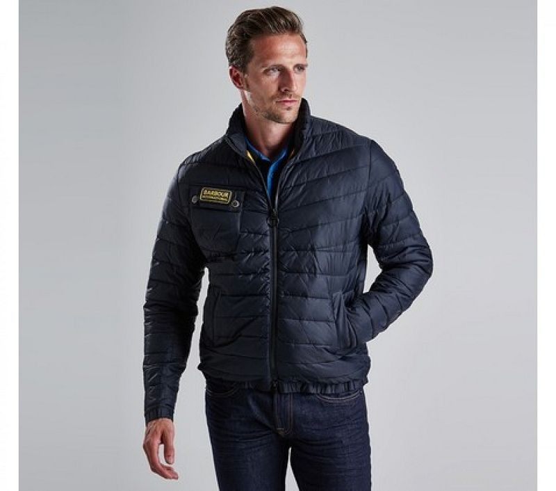 Barbour Men Chain Baffle Quilted Jacket Black