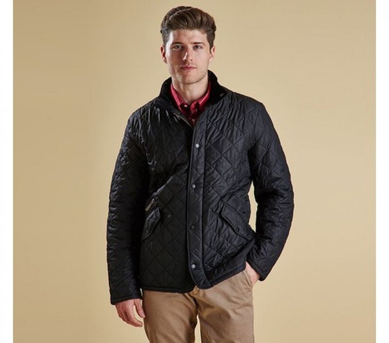 Barbour Men Chelsea Sportsquilt Jacket Black