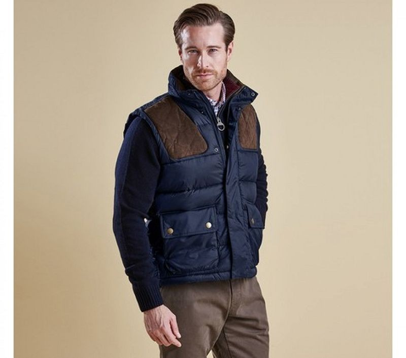 Barbour Men Colwarmth Quilted Gilet Navy