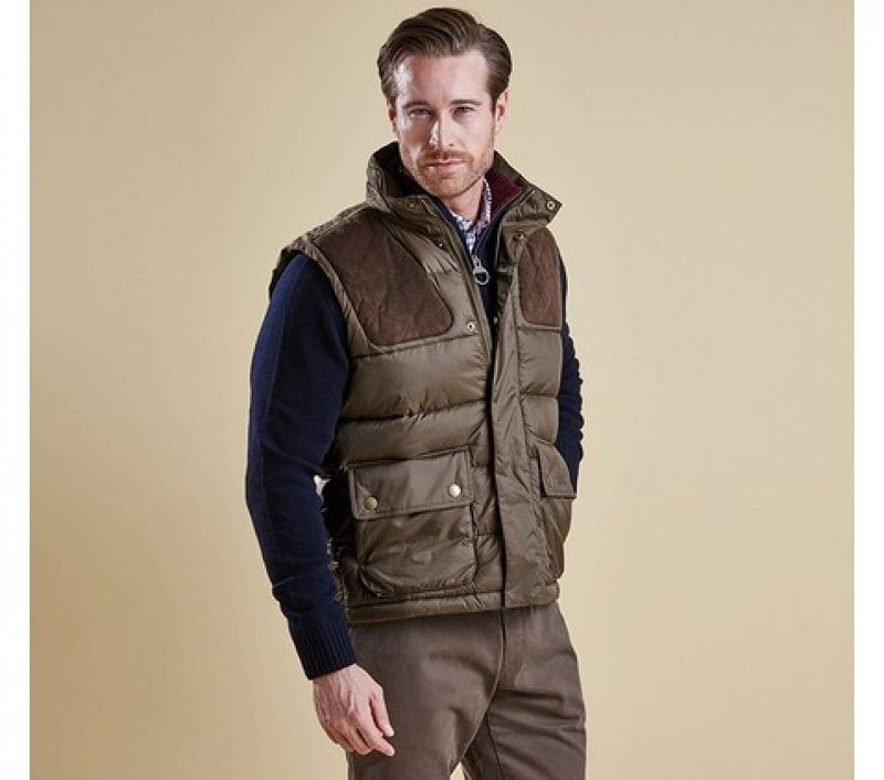 Barbour Men Colwarmth Quilted Gilet Olive