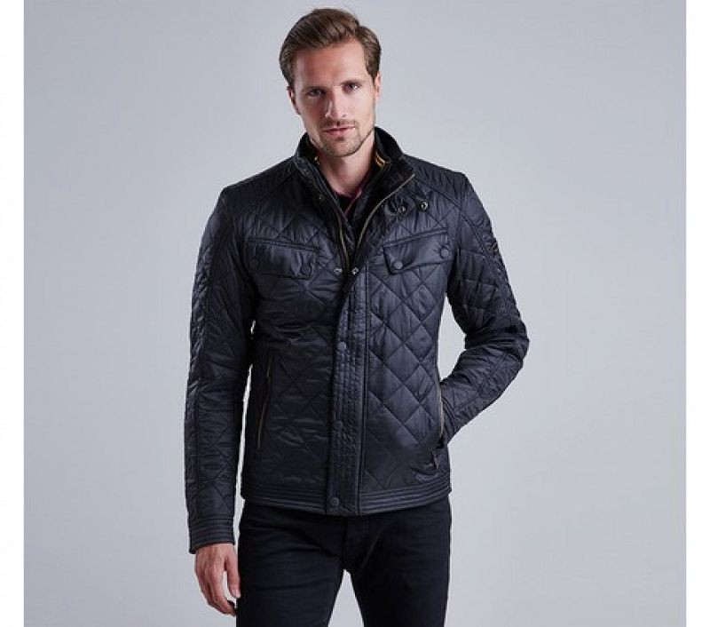 Barbour Men Coolant Tailored Fit Quilted Jacket Black