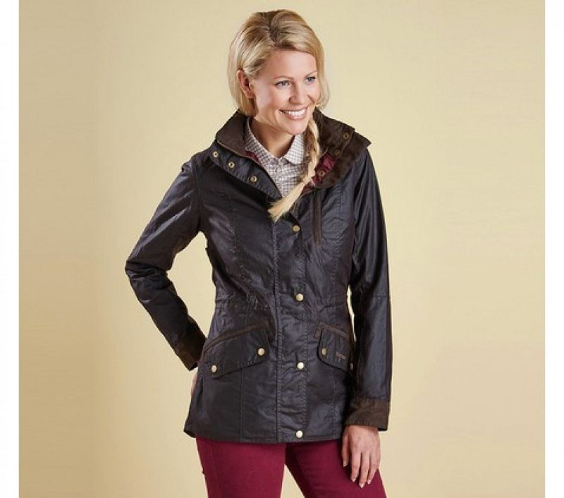 Barbour Women Badminton Wax Jacket Rustic