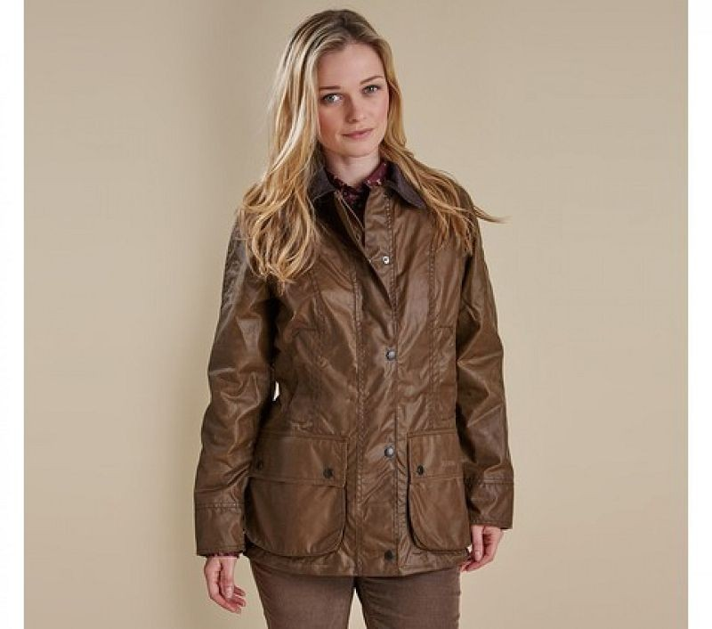 Barbour Women Beadnell Waxed Jacket Bark