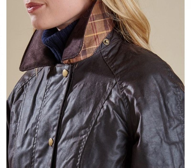 Barbour Women Beadnell Waxed Jacket Rustic