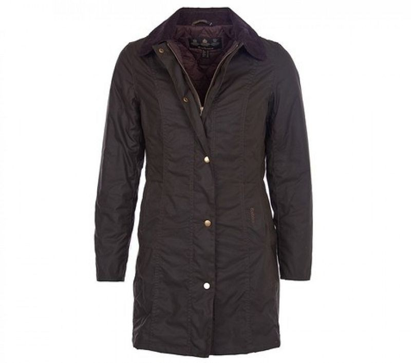 Barbour Women Belsay Waxed Jacket Olive