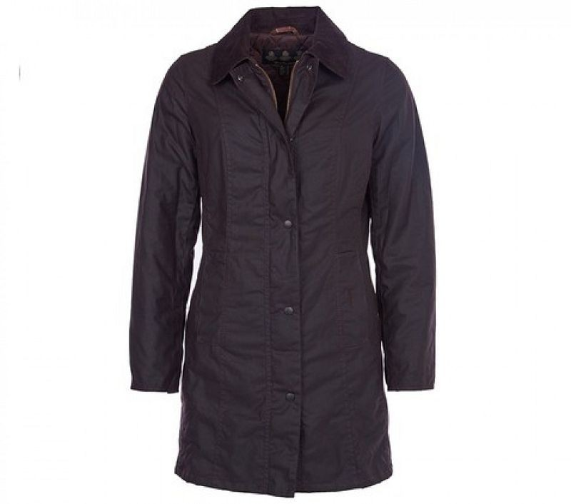 Barbour Women Belsay Waxed Jacket Rustic