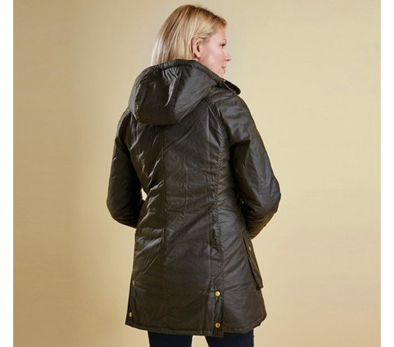 Barbour Women Bower Wax Jacket Olive