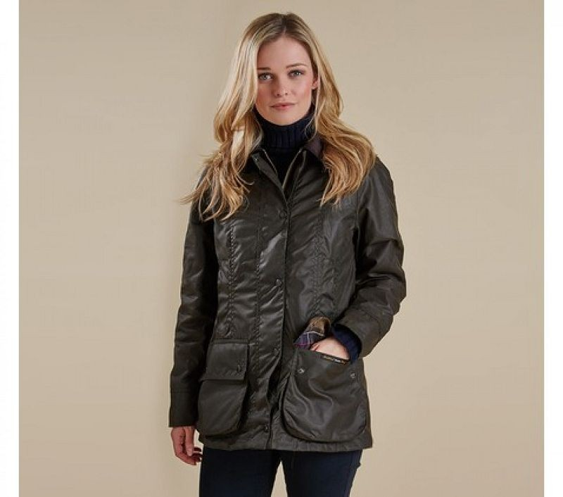 Barbour Women Classic Beadnell Waxed Jacket Bordeaux/Classic