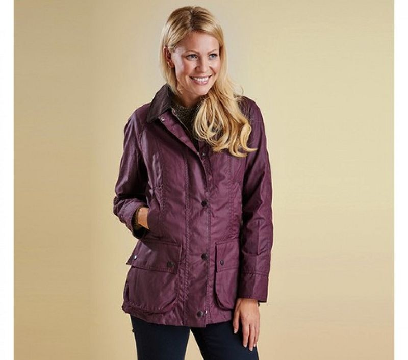 Barbour Women Classic Beadnell Waxed Jacket Olive