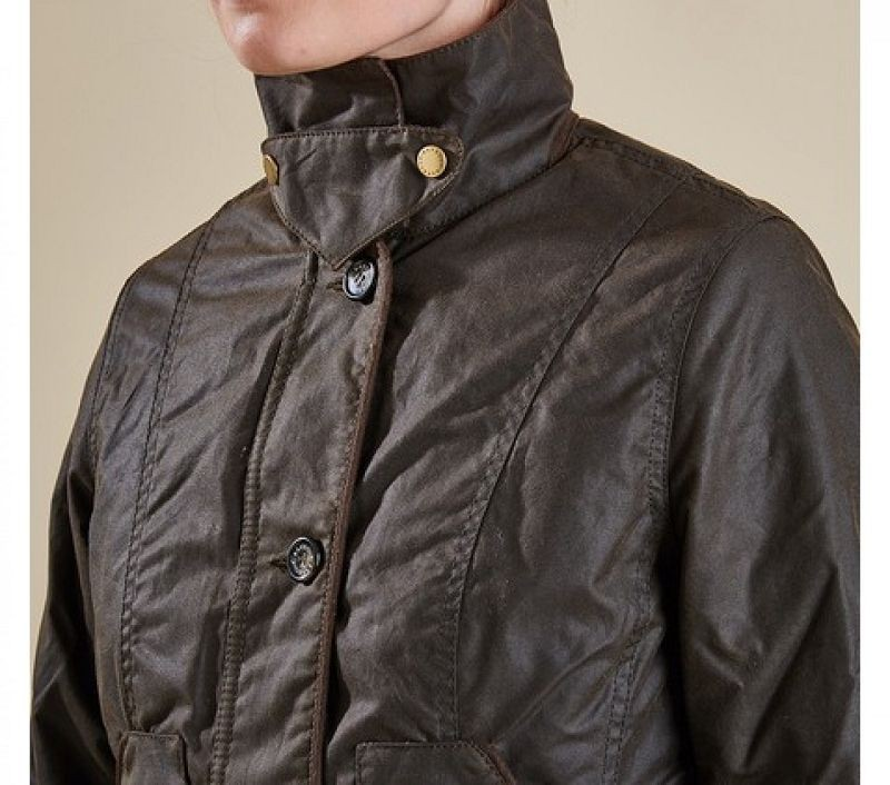 Barbour Women Garsdale Waxed Jacket Olive